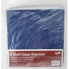 6 shelf hanging wardrobe sweater storage organizer cloth bag