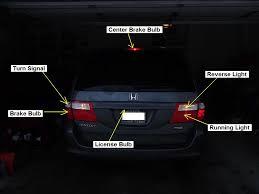 2009 honda accord brake light bulb brake light and tail light are controlled by same bulb