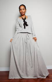 light gray long dress plus size maxi dress light grey long sleeve dress autumn