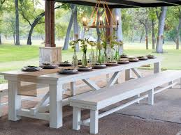 Outdoor Dining Bench White Teak Outdoor Dining Table And Bench U2014 Home Ideas Collection