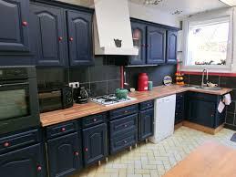 cuisine repeinte en noir cuisine repeinte en noir bois fascinant cuisine repeinte en noir