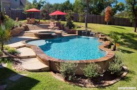 Great Pool Design Built On A Slope Pools Pooldesigns - Great backyard pool designs