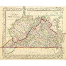 Map Of Virginia by Map Virginia U0026 West Virginia 1867 Original Art Antique Maps