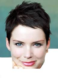 black super short haircuts for women with long face