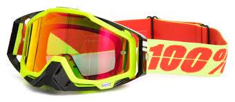 100 racecraft motocross goggles crush 100 crossbrille the racecraft neon sign rot verspiegelt 2017