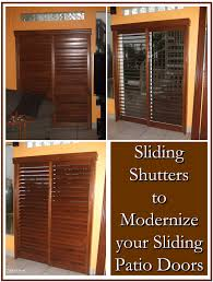 modernize your sliding patio doors with sliding shutters robert
