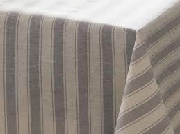 nappe en coton enduit nappe rectangulaire larges rayures coton polyester enduit gris