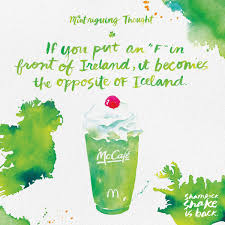 mcdonald u0027s print advert by moroch shamrock shake fireland ads