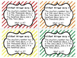 place value mystery number cards by to learn and teach tpt - Place Value Mystery Number