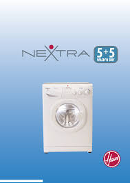 hoover washers nextra pdf instruction manual free download u0026 preview
