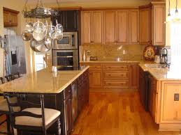 kitchen white spring granite with maple cabinets for small
