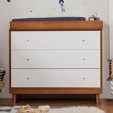 Babyletto Dresser Changing Table Babyletto Skip Changer Dresser Chestnut White Hayneedle
