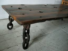 wood slab table legs good use of materials pipes and flanges as table legs deck stuff