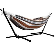 amazon com afranker double hammock with space saving steel stand