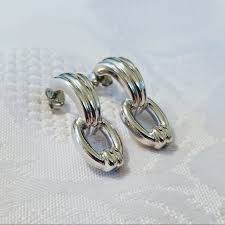 earings for sensitive ears vintage vintage silver post back earrings sensitive ears from