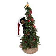 ditz designs climbing christmas tree bear 70124 black bear