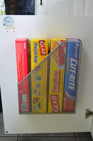 kitchen organizer magazine tin foil diy kitchen organization