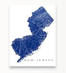 Usa State Maps by New Jersey Map Print Usa State Nj U2013 Maps As Art