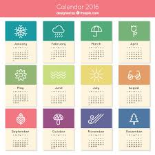 cute 2016 calendar vector free download