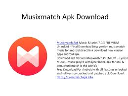 musicxmatch apk musixmatch apk premium
