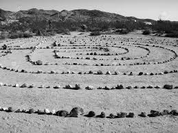 zen rock garden in the desert bw stock photo picture and royalty