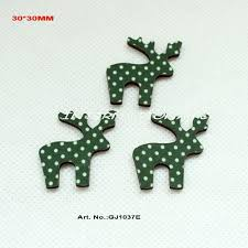 Christmas Decoration Online China by 30mmx30mm Reindeer Fabric Top Wooden Back Christmas Ornaments Hair