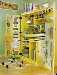 craft cabinet with fold out table furniture dazzling yellow wooden ikea craft armoire cabinet with