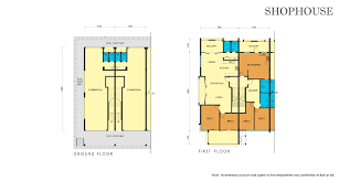 shop house floor plans floor plan buntal square ph1