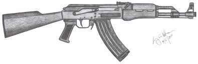 m4 carbine gun tattoo design