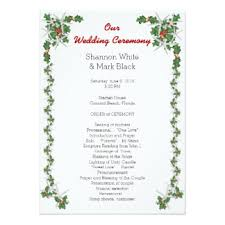 christmas wedding programs christmas wedding programs cards greeting photo cards zazzle