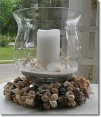seashell wreath beach wedding centerpieces with white or natural