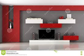 modern living room with tv set stock illustration image 73655932