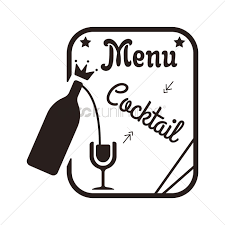 cocktail clipart black and white cocktail menu design vector image 1710467 stockunlimited