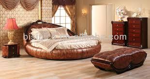 chambre a coucher avec lit rond luxe contemporain chambre meubles set or véritable en cuir lit rond