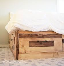 Tidy King Bed With Storage by Ana White Brandy Scrap Wood Storage Bed With Drawers Diy Projects