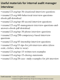 Internal Resume Top 8 Internal Audit Manager Resume Samples