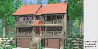 vacation home plans duplex house plans duplex home designs vacation plans d 535