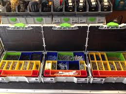 shop storage and organization for misc screws and fasteners