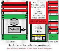 Size Of A Crib Mattress White Crib Size Mattress Bunk Beds Diy Projects