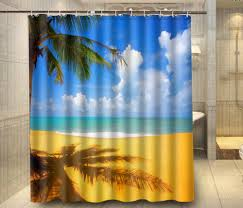 Tropical Beach Shower Curtains by Beach Shower Curtain Home Design