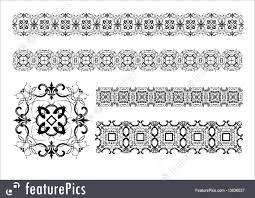 illustration of ornamental lines