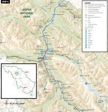 Jasper National Park Canada Map by Road Biking Jasper National Park