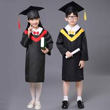 kindergarten cap and gown child school bachelor clothes doctor hat graduation dress