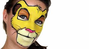 simba the lion king face painting youtube
