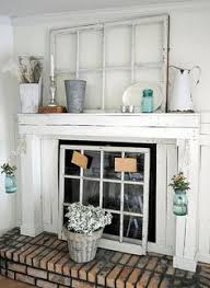 Fireplace Cover Up I Like The Idea Of Using An Old Window As A Fireplace Screen