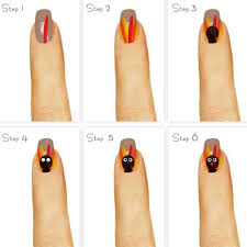 step by step thanksgiving nail tutorials for learners 2016