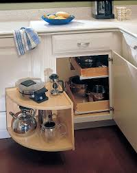 how to deal with the blind corner kitchen cabinet live simply