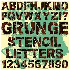 31 letter stencil letter templates free psd vector ai eps