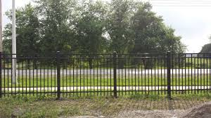 iron fence panels with stone pillars u2013 outdoor decorations