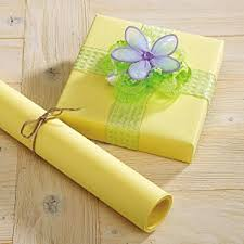 amazon com pastel yellow kraft gift wrap 40 square feet health
